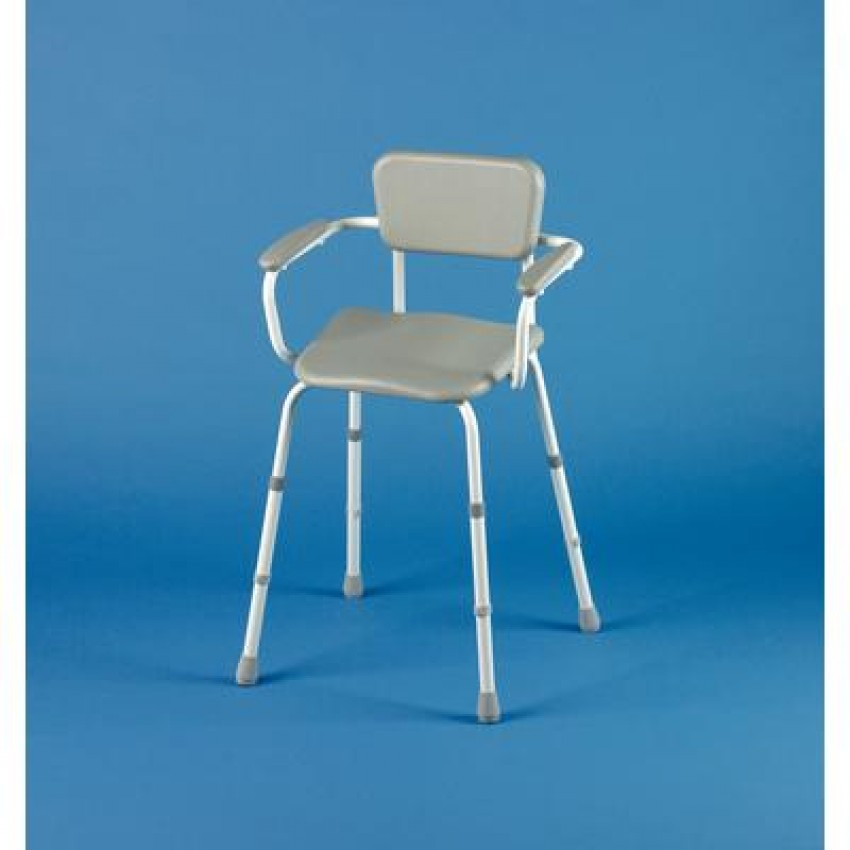 Perching Stool With Back And Arms