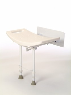 Sunrise Medical Coopers Wall Mounted Shower Seat With Legs