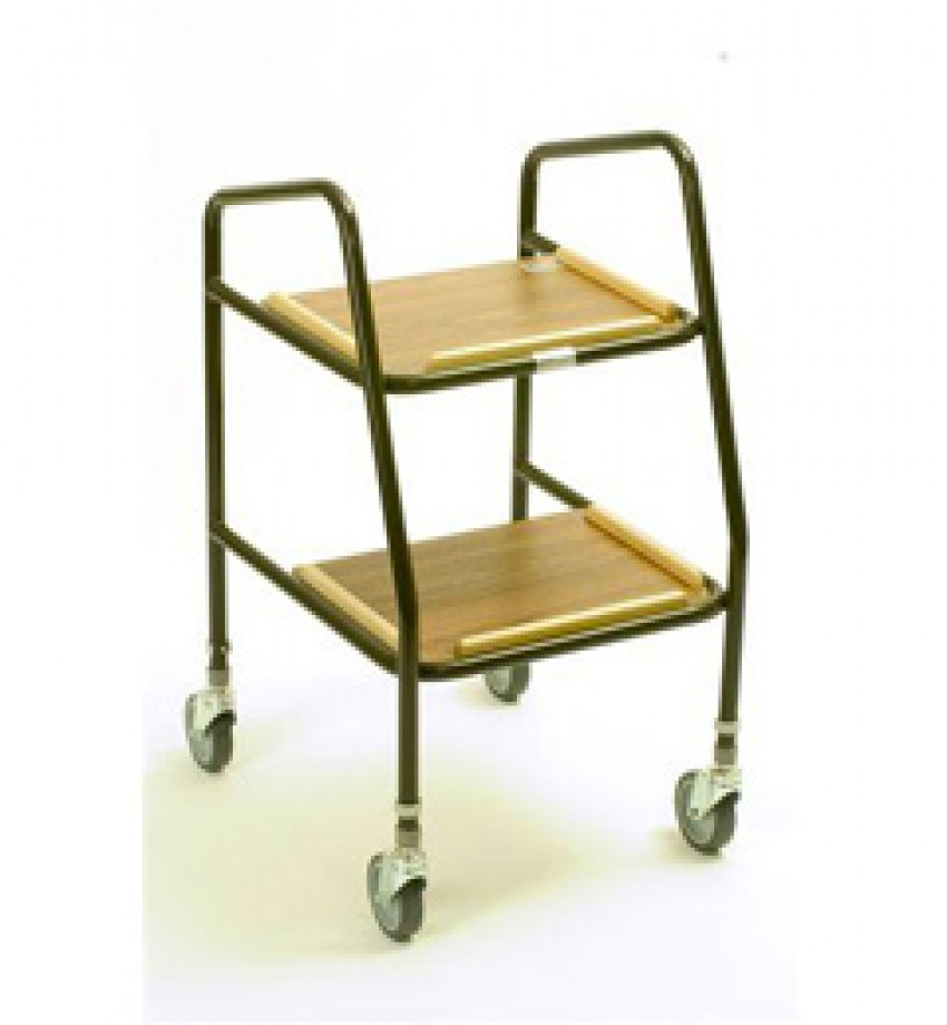 Days Healthcare Adjustable Height Teak Shelf Trolley