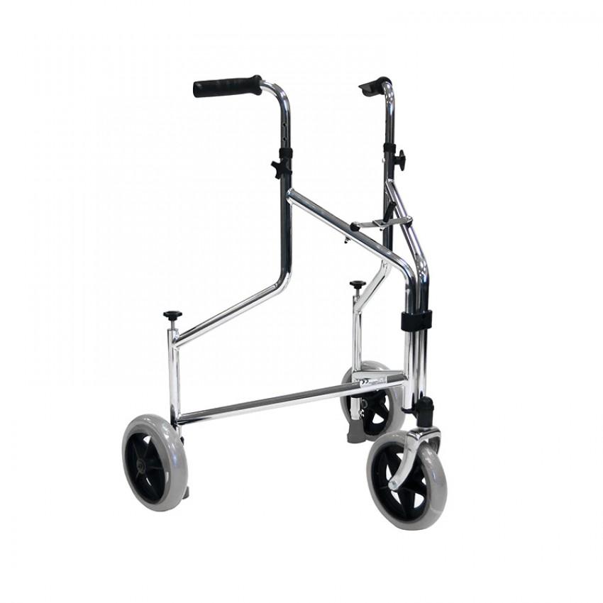 Roma Medical Lightweight Pressure Brake Tri-Wheel Walker