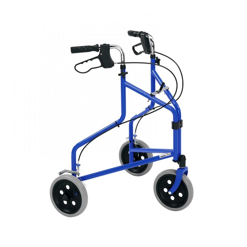 Roma Medical Super Lightweight Tri-wheel Walker With Loop Brakes