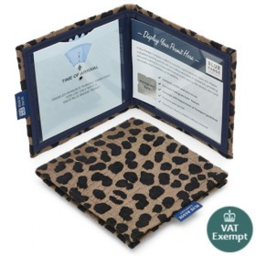 Leopard Blue Badge Wallet