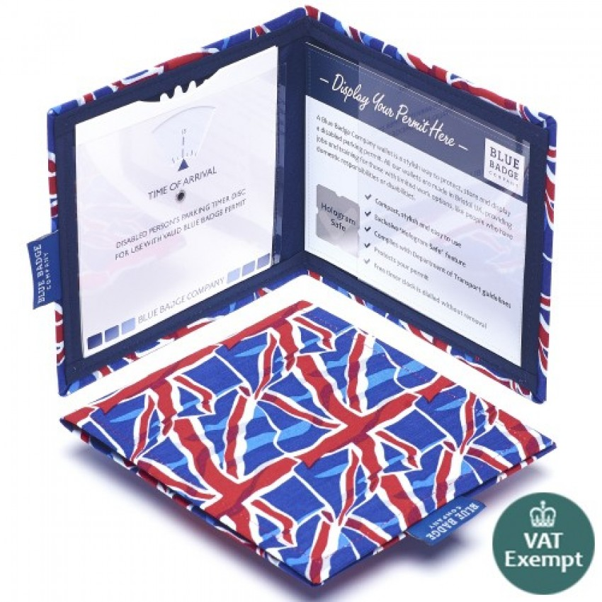 Union Jack Blue Badge Wallet