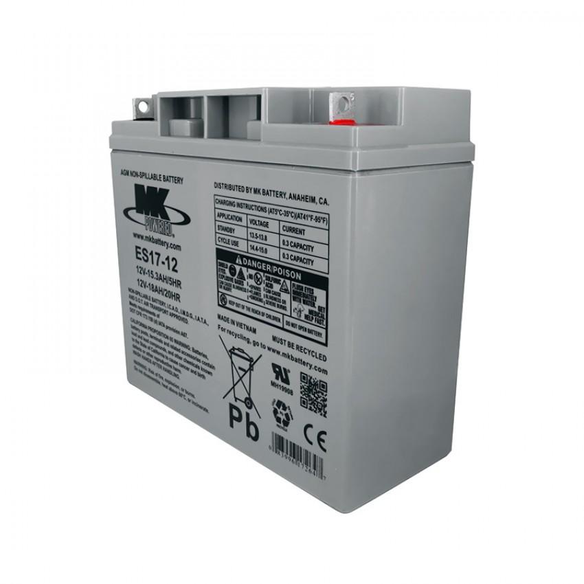 MK Batteries Sealed Lead Acid Batteries (Pair) (17/18 Ah)