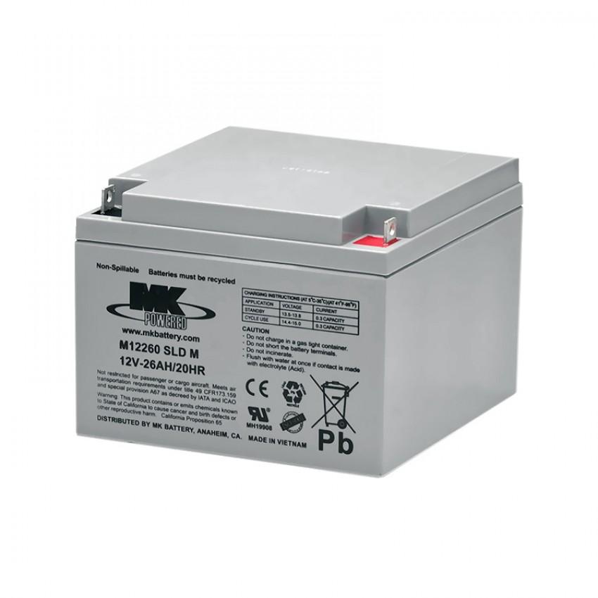 MK Batteries Sealed Lead Acid Batteries (Pair) (24/25/26 Ah)
