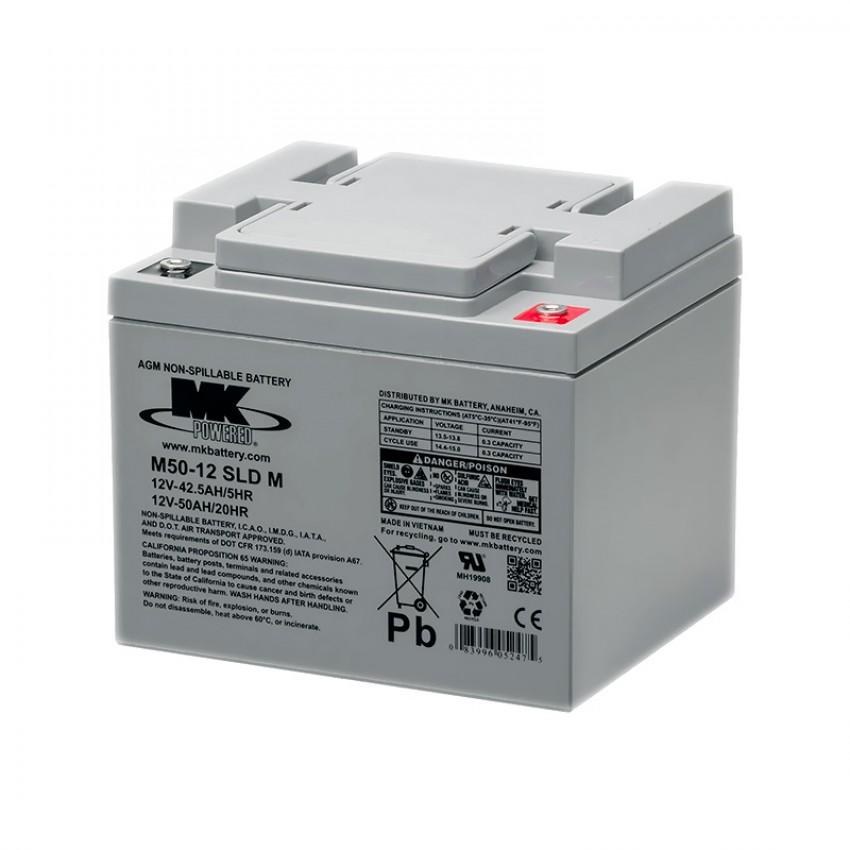 MK Batteries Sealed Lead Acid Batteries (Pair) (50 Ah)