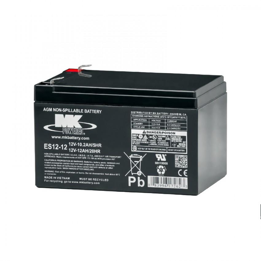 MK Batteries Sealed Lead Acid Batteries (Pair) (7.2/10/12 Ah)