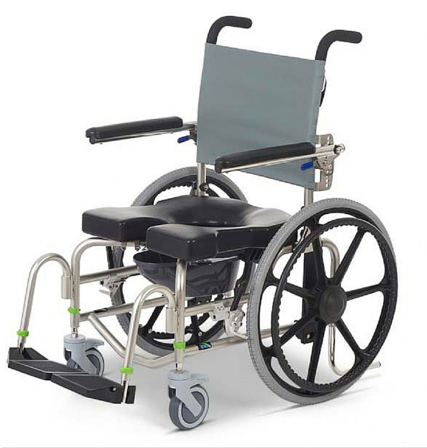 RAZ-SP Rehab Self-propelled Shower Commode Chair - Better Mobility ...