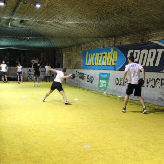 Dodgeball in play